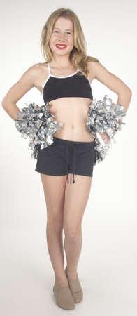 cheerleader: Teen Cheerleader Stock Photo