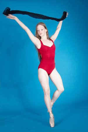 Ballerina Posing in a Studio Setting photo