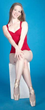 leotard: Ballerina Posing in a Studio Setting Stock Photo
