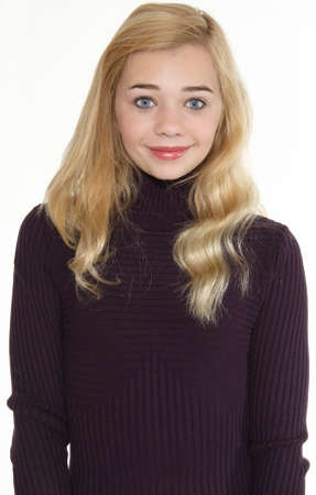 Portrait of Attractive Blond Girl