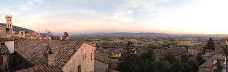 Gorgeous view from a hotel in the town of Assisi  Stock fotó