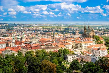 Landscape of Brno from the Spilberk castle, Spielberg, Czech Republic Stock Photo