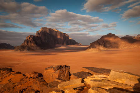 Panorama of Wadi Rum desert, Jordan, Middle East Stock Photo