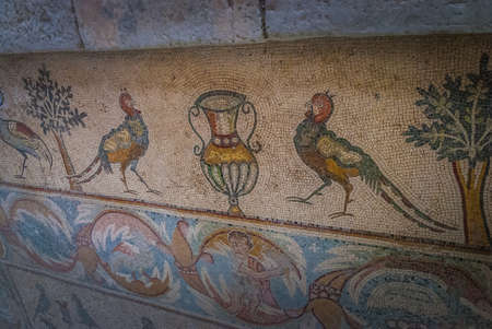 Mosaic in the Church of the Apostles (Madaba), Jordan Middle East