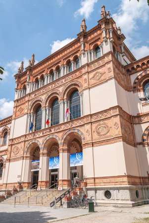 MILAN, ITALY - JUNE 8, 2019 The Museo Civico di Storia Naturale di Milano, Milan Natural History Museum. The museum was founded in 1838