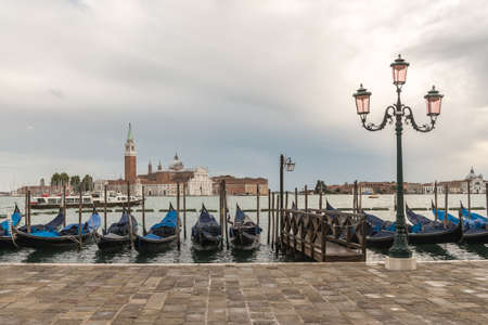 Venice (Venice). View of the island of Saint George and the Basilica de San Giorgio Maggiore.