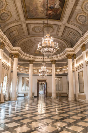 VENICE, ITALY - 3 OCTOBER 2020: ballroom in the Museum Correr of Venice located in St. Mark's Square on the upper floors of the Procuratorie Nuove 新闻类图片