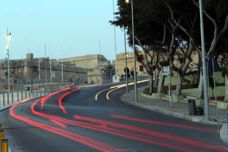 car lights: Car lights in Cospicua