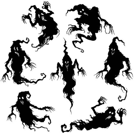 Illustration fantasy grotesque ghost spooky creatures