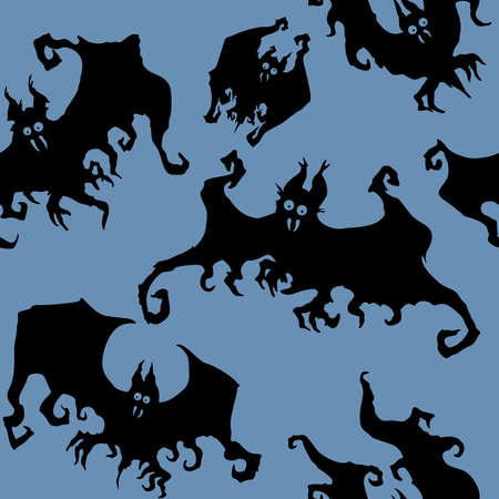 Seamless texture with decorative halloween bats