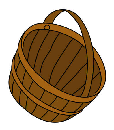 basket, pannier, brown, wicker, weave, twig, bag