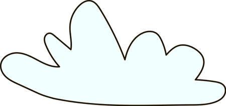 cumulus cloud: cloud, sky, blue, clouds, heaven, palate, cumulus Illustration