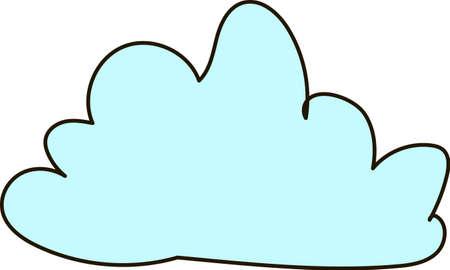 palate: cloud, sky, blue, clouds, heaven, palate, cumulus Illustration