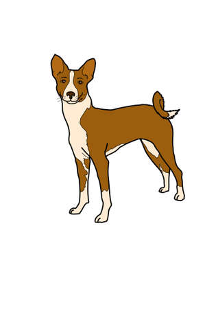 Dog animal brown. illustration picture. Cartoon dog. Picture of a dog. Puppy.