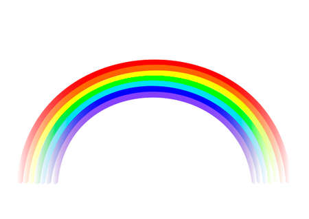 Bright multicolor rainbow on a white background. Illustration
