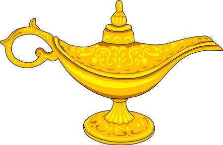 The old gold. The magic lamp Alladin.