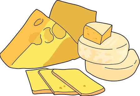 A yellow cheese head, a sliced ??cheese.
