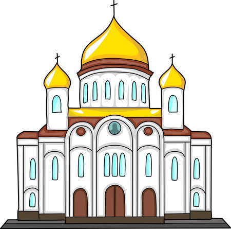 cupola: The building of the Orthodox Church with gilded domes.
