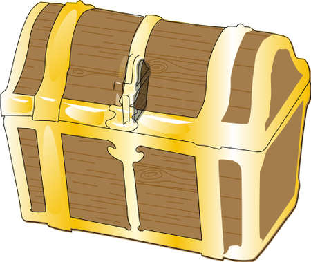 The yellow-brown closed chest on a white background.