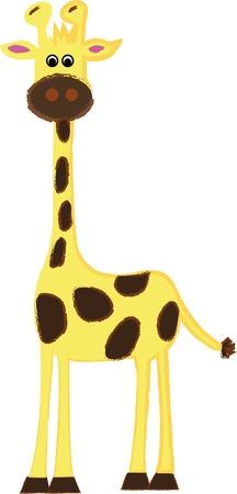 long neck: Giraffes long neck with four legs shocked.