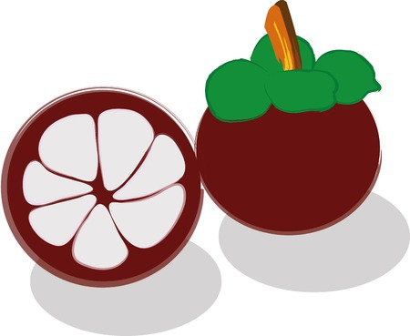 mangosteen: mangosteen Stock Photo