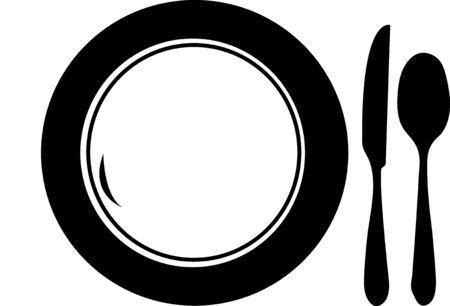 melaware: Illustration of the three kitchen utensils on a white background
