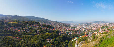 View from Sarajevo in the morning. Bosnia and Herzegovina
