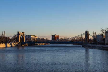 View of the Grunwald Bridge in Wroclaw. Poland 版權商用圖片 - 131754771
