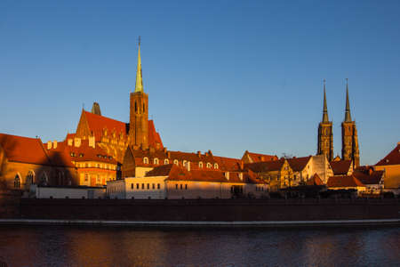 View of the historic district of Wroclaw. Poland
