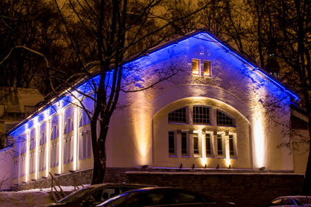 Night view of Estonian Christian Pentecostal Church in Tallin. 版權商用圖片