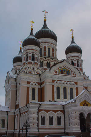 View of a Alexander Nevsky Cathedral in Tallinn. Estonia