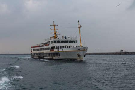 A passenger ferry plying the Bosphorus in Istanbul. Turkey Stockfoto