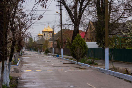 Street in the Ukrainian city of Vylkove. Ukraine