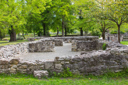 Ruins of a Franciscan Monastery on the Margaret Island in Budapest. Hungary 版權商用圖片