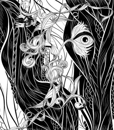 floral bizarre Vector