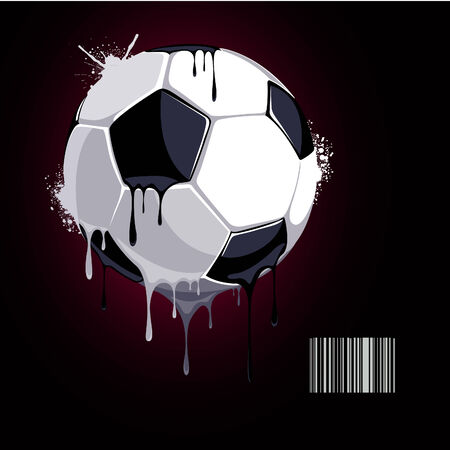 from the soccer ball dripping paint Stock Vector - 7895723