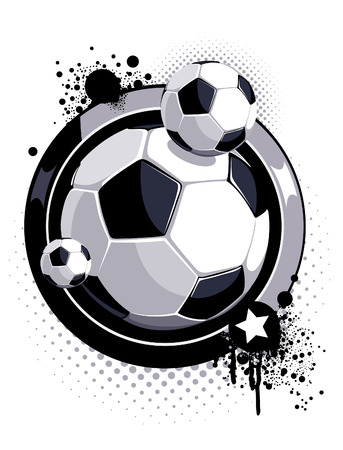 pattern with soccer ball Vector