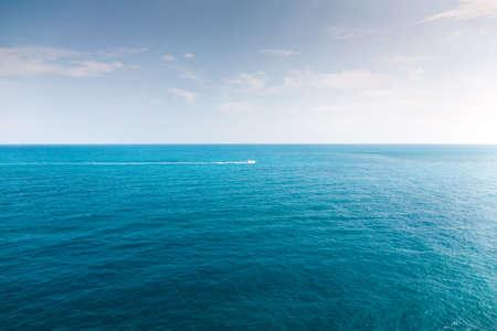 cielo y mar: Enfr�e Foto de archivo