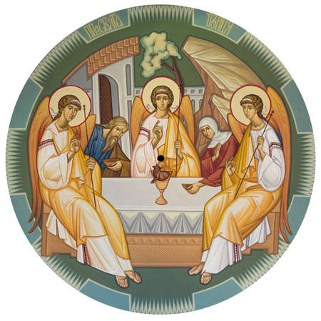 monasteries: Trinity depicts the three angels who visited Abraham at the Oak of Mamre
