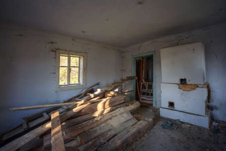 forgotten: One of the room in old forgotten rural house