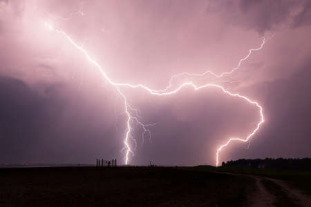 zapping: Massive Lightning Strike strikes the earth all way down
