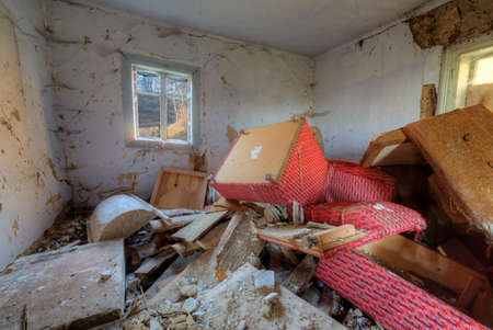 forgotten: Big mess in abandoned forgotten rural house
