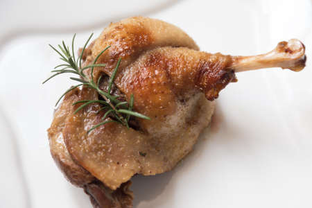 depends: Cooked roast turkey chicken isolated on white plate - depends on what you are looking for
