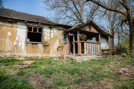 long lived: Abandoned forgotten house in countryside. No people lived there for long time