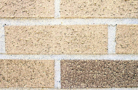 Closeup of brick wall with great detail of the rough texture and pattern