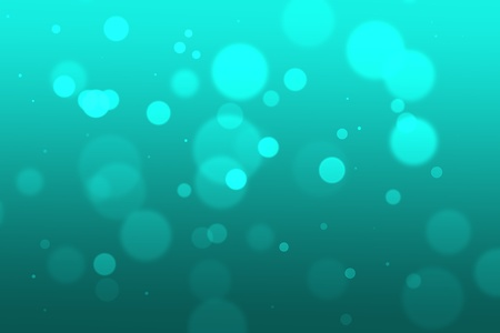 Abstract graphic design with blue circles at different depth, blur, and intensity on a blue background  This could represent underwater blur with bubbles   Çizim