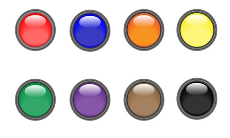Punch Buttons Stock Vector - 20215390