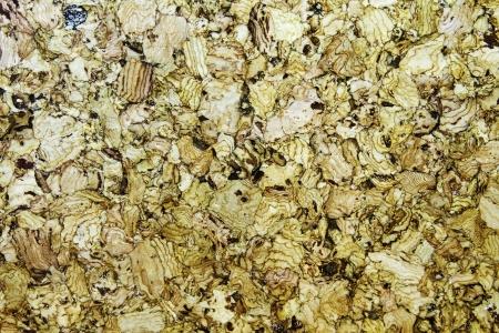 Closeup shot of cork board texture.