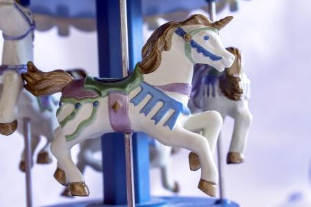 Close shot of music box with beautiful pastel unicorn
