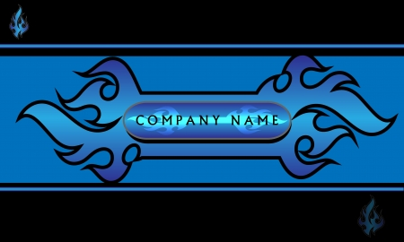 Blue and black flame design for any business  Editable layered file